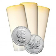 2012 Canadian Maple Leaf 1 oz Mint Tube of 25 Silver Coins 9999