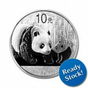 2011 China Panda 1 oz Silver Coin 999 (In Capsule)