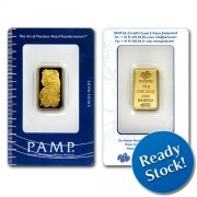 PAMP Suisse 10 gram Gold Bar 999.9 with Assay Certificate